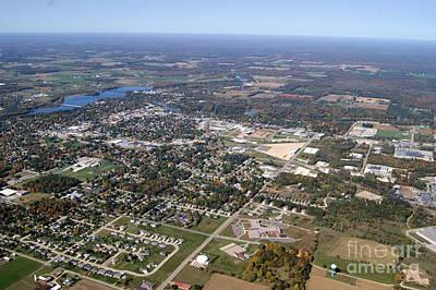 Photograph - S-071 Shawano Wisconsin City Fall by Bill Lang