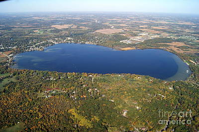 Photograph - S-075 Silver Lake Fall Waukesha County Wisconsin by Bill Lang