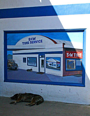 Photograph - S And W Tire Service Mural by Joseph Coulombe