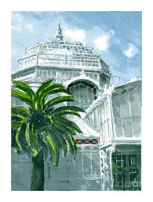 Painting - Sf Conservatory by Dick Dee