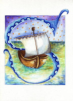 Painting - S Is For Sailing by Tamyra Crossley