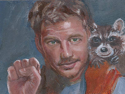 Painting - S Is For Starlord And R Is For Rocket by Jessmyne Stephenson