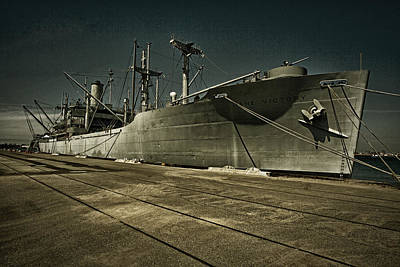 Art Print featuring the photograph S. S. Lane Victory ... W W 2 Era Victory Class Cargo Ship by Chuck Caramella