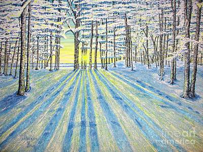 S. Winter. Art Print by Viktor Lazarev