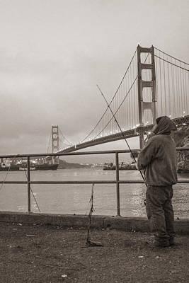 Photograph - Sa Fransico Fisherman by John McGraw
