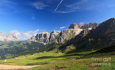 Saas Pordoi And Fassa Valley Art Print