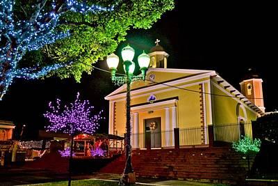Photograph - Sabana Grande Catholic Church At Night by Ricardo J Ruiz de Porras