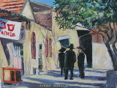 Painting - Sabbath In Jeruselem by Linda Novick