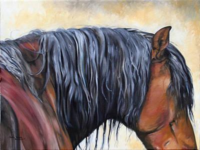 Peruvian Horse Painting - Sabiduria by Shaila Yovan Tenorio