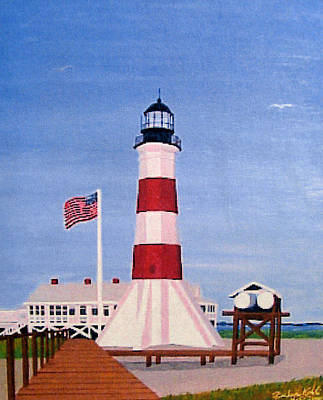 Painting - Sabine Pass Lighthouse by Frederic Kohli