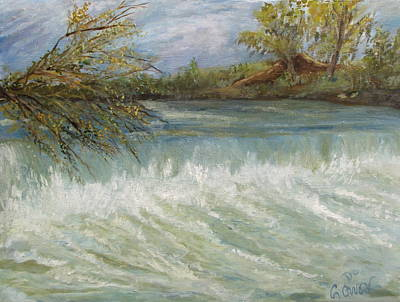 Painting - Sabino Canyon Dam by Caroline Owen-Doar