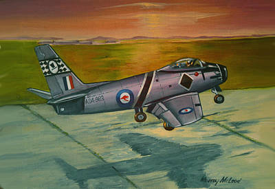 Print featuring the painting Sabre At Sunset by Murray McLeod