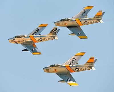 Photograph - Sabre Flight by Jeff Cook
