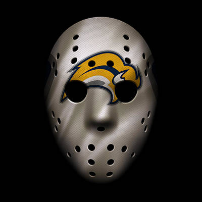 Photograph - Sabres Jersey Mask by Joe Hamilton