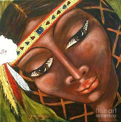 Painting - Sacajawea by Maya Telford