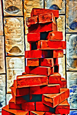 Painting - Stacked Bricks by Joan Reese