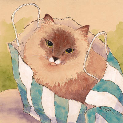 Paper Bags Painting - Sacked Kitty by Tracie Thompson