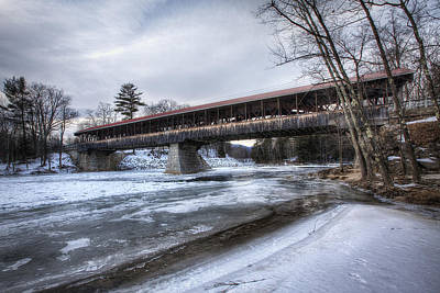 35mm Photograph - Saco River Bridge by Eric Gendron
