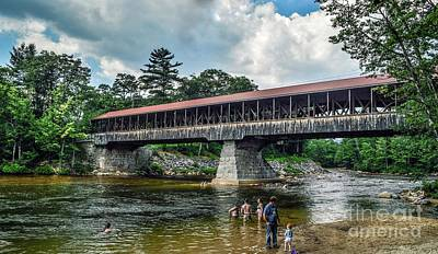 Art Print featuring the photograph Saco River Covered Bridge  by Debbie Green