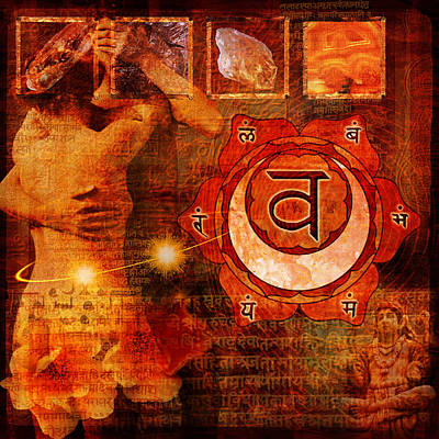 Sacral Chakra Art Print by Mark Preston
