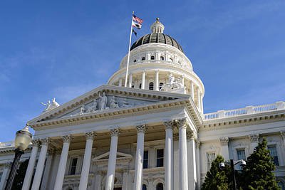 Law Photograph - Sacramento California Capitol by Brandon Bourdages