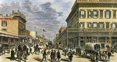 Sacramento In 1878 Art Print by Prisma Archivo