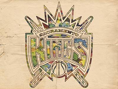 Painting - Sacramento Kings Poster Art by Florian Rodarte