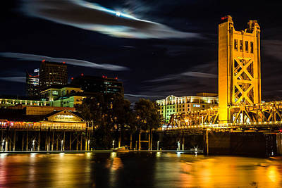 Sacramento Night Art Print