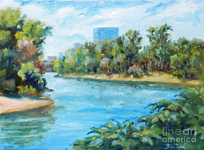 Painting - Sacramento River Confluence by William Reed
