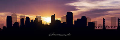 Sacramento Sunset Art Print by Aged Pixel