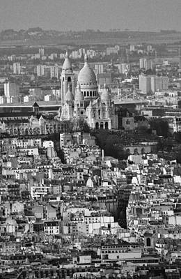 Sacre Coeur Photograph - Sacre-coeur And Montmartre by David Broome
