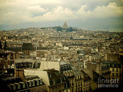 Sacre-coeur And Roofs Of Paris. France.europe. Art Print