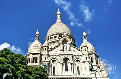 Sacre Coeur Photograph - Sacre Coeur At Montmartre by Mel Steinhauer