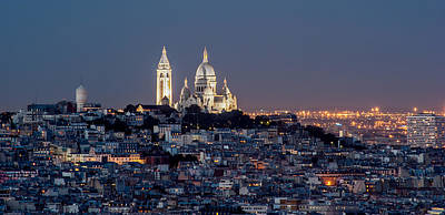 Photograph - Sacre Coeur Au Sommet De Montmartre Paris by Pierre Leclerc Photography