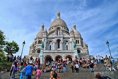 Photograph - Sacre Coeur Basilica 1 by Allen Beatty