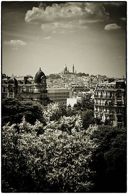 Photograph - Sacre Coeur Basilica As Seen From Temple De La Sibylle. by Lenny Carter