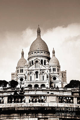 Black History Photograph - Sacre Coeur Basilica In Paris by Elena Elisseeva