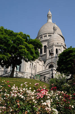 Sacre Coeur Flowers Art Print by Jeremy Voisey