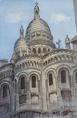 Sacre Coeur Painting - Sacre Coeur II by Henrieta Maneva
