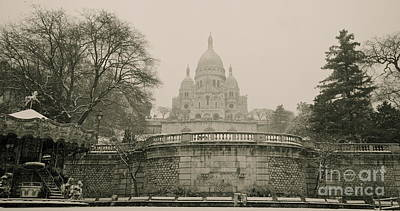 Photograph - Sacre Coeur On A Snowy Day by Louise Fahy