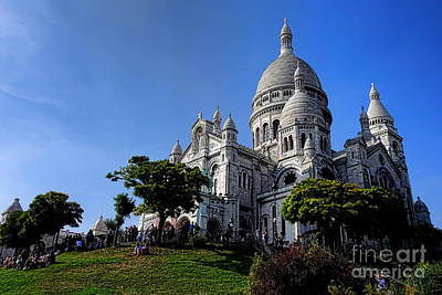 Photograph - Sacre Coeur On Butte Montmartre by Olivier Le Queinec