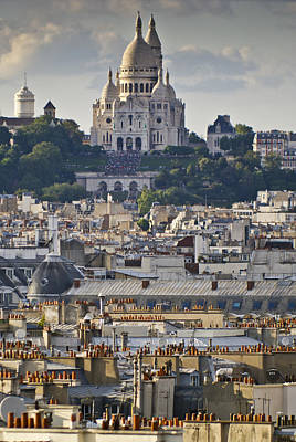Photograph - Sacre Coeur Over Rooftops by Gary Eason