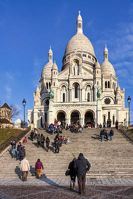 Photograph - Sacre Coeur - Parisian Landmark by Mark E Tisdale