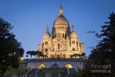 Sacre Coeur Photograph - Sacre Coeur Twilight by Brian Jannsen