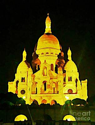 Sacre-coure Cathedral Paris  Print by John Malone