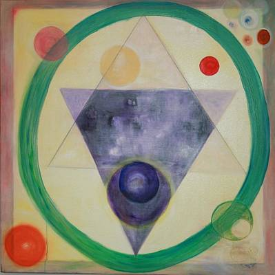 Painting - Sacred Circle  Triangle As Above So Below by Phoenix De Vries