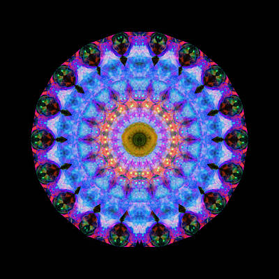 Sacred Crown - Mandala Art By Sharon Cummings Art Print by Sharon Cummings