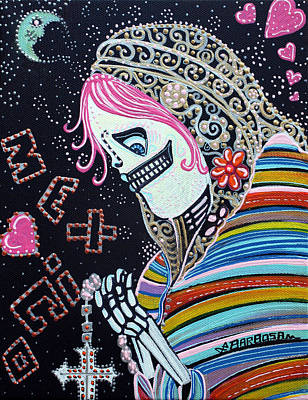Folk Painting - Sacred Day by Laura Barbosa