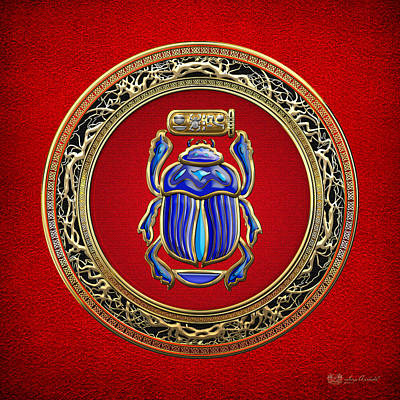 Digital Art - Sacred Egyptian Scarab by Serge Averbukh