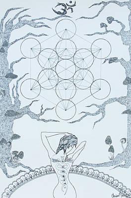 Sacred Geomancy Original by Christina  Martine